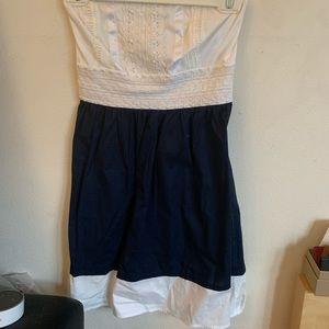 STRAPLESS CUTE SAILOR DRESS